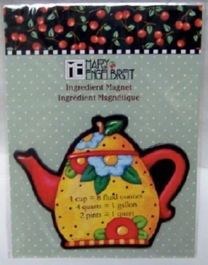 Mary Engelbreit Teapot Ingredients Magnet New Front