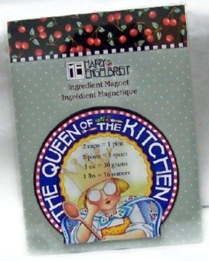 Mary Engelbreit The Queen Of The Kitchen Ingresient Magnet New Front