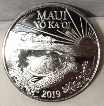 Maui Trade Dollar 2019 Turtle Uncirculated Front