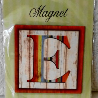 Pooch & Sweetheart E Initial Flat Magnet Front
