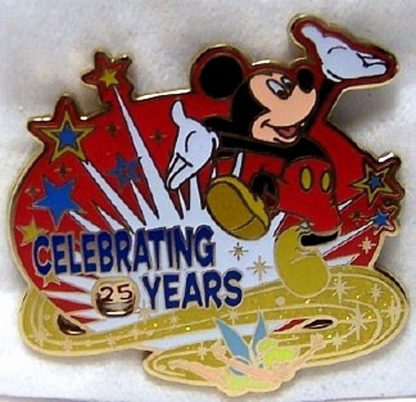 Disney Celebrating Years Pin Mickey Tink Spinner On 25 New Front