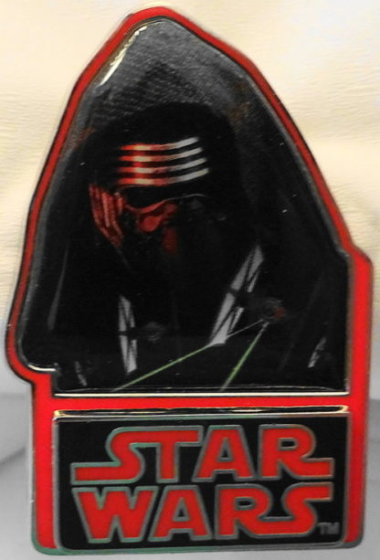 Disney Force Awakens Kylo Ren Pin Countdown #6 LE New Front