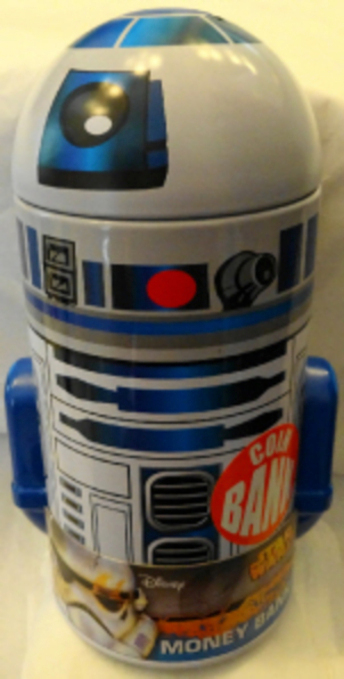 Disney Star Wars R2D2 Metal Coin Bank New 3