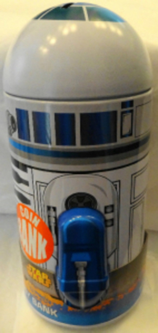 Disney Star Wars R2D2 Metal Coin Bank New 4