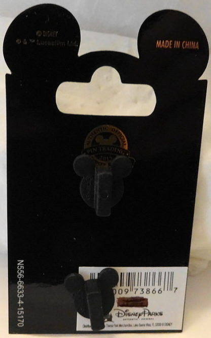 Force Awakens Chewbacca Pin Disney Star Wars Countdown #3 Limited Edition New On Card Back