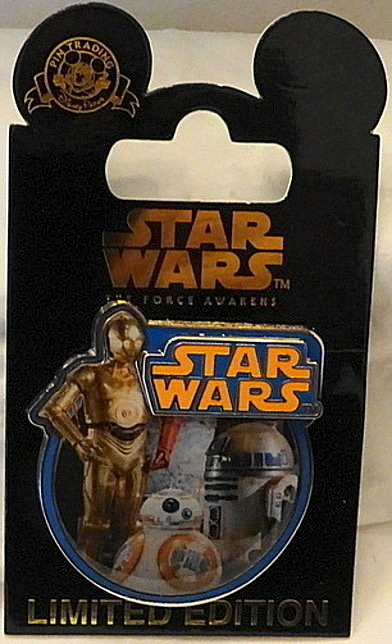 Force Awakens Droid Pin Disney Countdown #1 LE New On Car Front