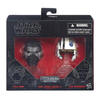 Kylo Ren Poe Helmets Star Wars Diecast New In Box Front