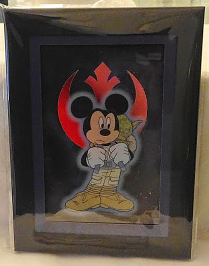 Mickey With Yoda Laser Cel Limited Release New Front