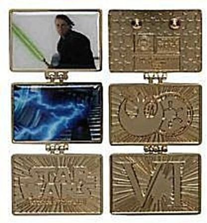 Return Of The Jedi 2015 Pin Star Wars Weekend New Front Pin Open 2 Pins 1 Front 1 Back