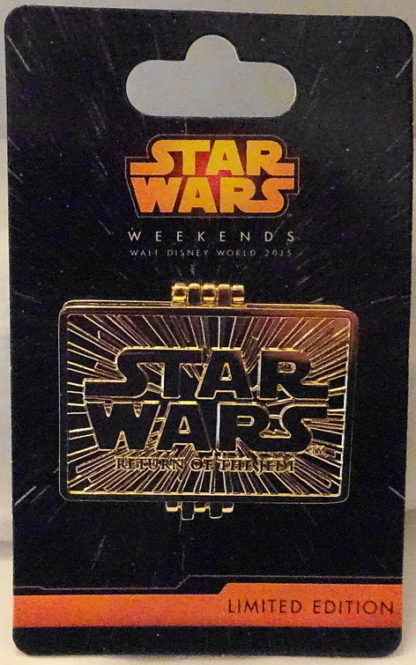 Return Of The Jedi 2015 Pin Star Wars Weekend New On Card Front Pin Closed