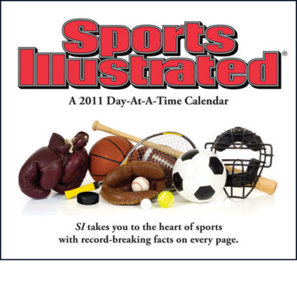Sports Illustrated 2011 Calendar With Record Breaking Facts New Front Stock Photo