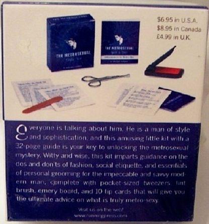 The Metrosexual Style Mini Book Kit New Back