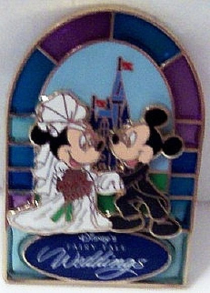 Disney Fairy-Tale Weddings Pin Mickey Groom Minnie Bride New Front