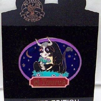 Disney Jumbo Horoscope Zodiac Taurus Ferdinand LE 300 Pin New On Card Front