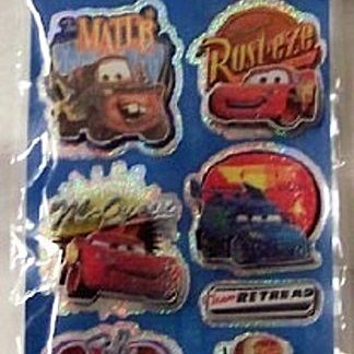 Disney Pixar Cars #7 Sandylion Dimensional Stickers New Front