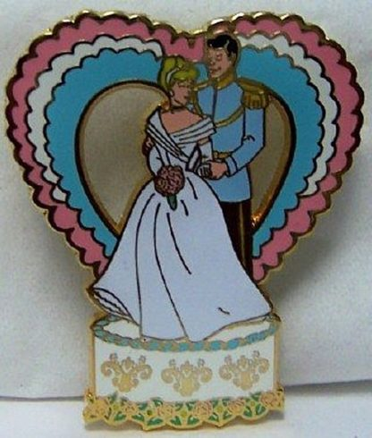 Disney Prince Charming Cinderella Wedding Series LE 250 Pin New Front