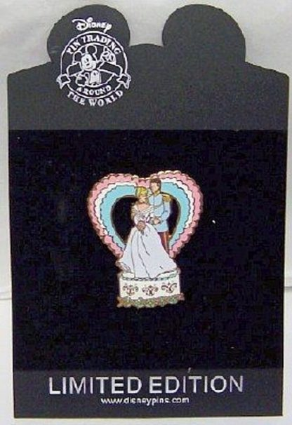 Disney Prince Charming Cinderella Wedding Series LE 250 Pin New On Card Front