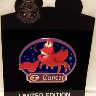 Disney Sebastian Horoscope Jumbo Limited Edition Pin New On Card Front