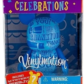 Disney Thank You Vinylmation Celebrations 3 Inch Figure + Jr Figure New In Box Front