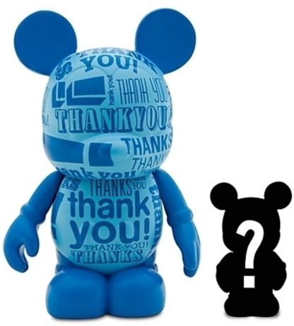 Disney Thank You Vinylmation Celebrations 3 Inch Figure + Jr Figure New Out Of Box Stock Photo