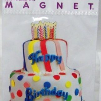 Happy Birthday Cake Paper House Photographic Flat Magnet New In Pack Front