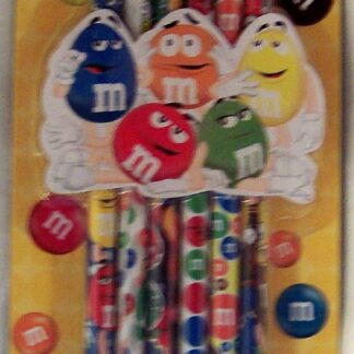 M&M'S Collectible Pencils 6 Pack New Front