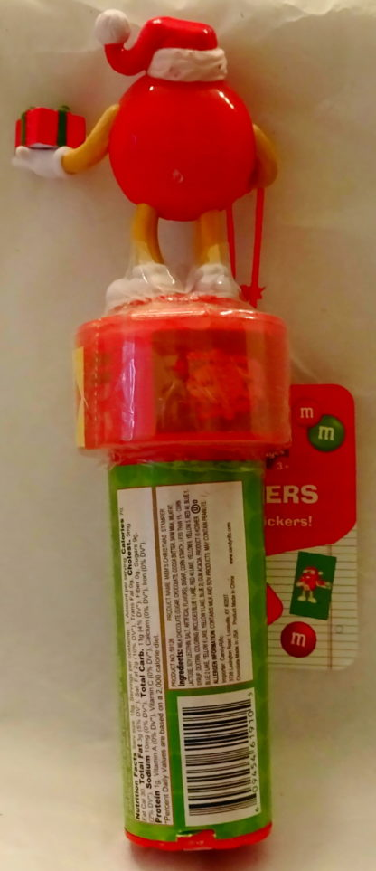 M&M'S Red 2009 Stickers + Chritmas Stamper New With Tag Back