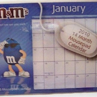 M&M's Mousepad 2010 Calendar 14 Month New In Pack Front