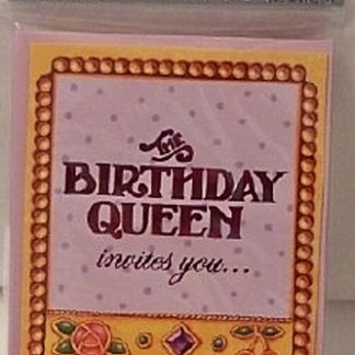 Mary Engelbreit The Birthday Queen Invitations New In Pack Front
