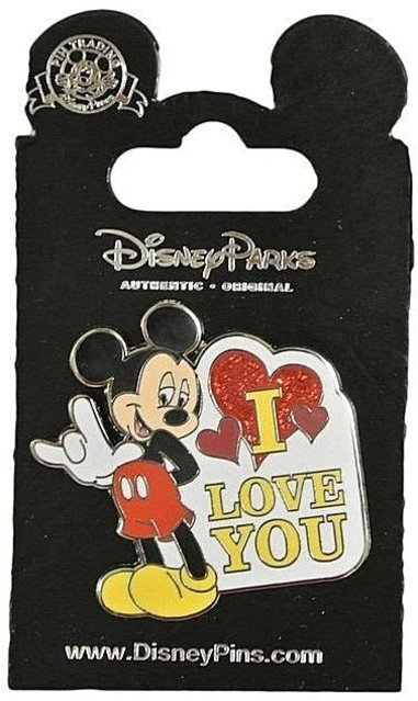 Mickey ASL Love Pin Disney Parks New On Card Front