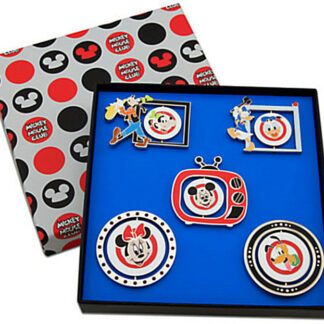 Disney Mickey Mouse Club Limited Edition 500 Pin Set 5-Pc New In Box Open Stock Photo