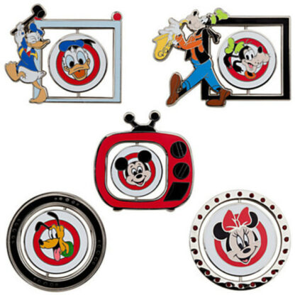 Disney Mickey Mouse Club Limited Edition 500 Pin Set - 5 Pc New Out Of Box Character Sides Stock Photo