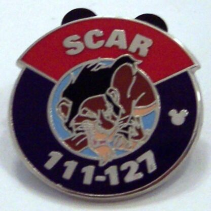 Disney Scar Villain Parking Lot Sign Hidden Mickey Completer PWP Pin New Front