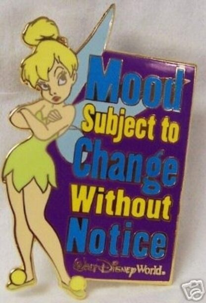 Disney Tink Pin Mood Subject To Change New Front