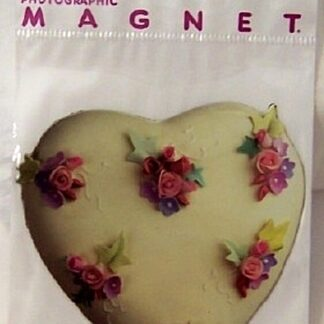 Heart Flowers Flat Magnet Photographic New In Pack Front