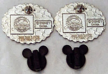Wedding Ear Hat Pins #2 Disney Mr. Groom Mrs. Bride New Back