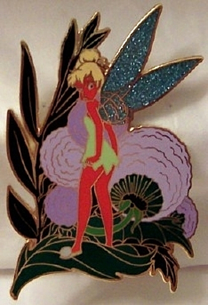Authentic Walt Disney World Angry Tinkerbell Pin