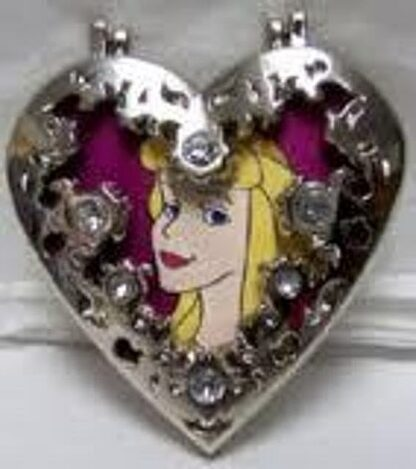 DISNEY SLEEPING BEAUTY AURORA JEWELED HINGED LE 300 PIN Front
