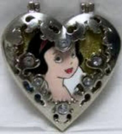 DISNEY SNOW WHITE JEWELED HINGED LE 300 PIN New Front