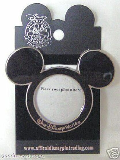 DISNEY WDW MICKEY EARS PHOTO FRAME PIN ON CARD