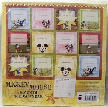 Disney Mickey Mouse 2011 16 Month Calendar New In Pack Back