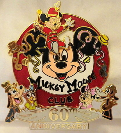 Disney Mickey Mouse Club 60th Anniversary Limited Release Pin New Front