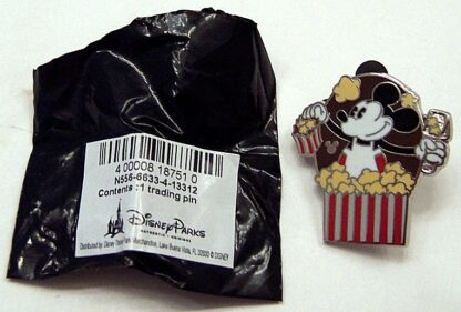 Disney Mickey Mouse Popcorn Hidden Mickey Completer PWP 2013 Pin New Front With Bag