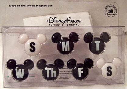 Disney Parks Mickey Icon Days Of The Week Magnet Set New In Pack Front