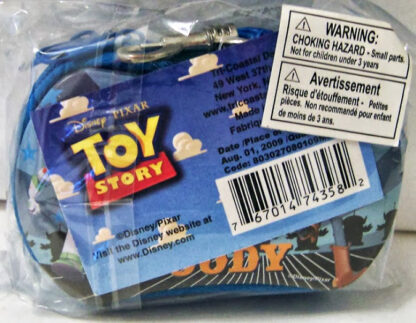 Disney Pixar Toy Story Buzz Lightyear & Woody Zippered Case New Back