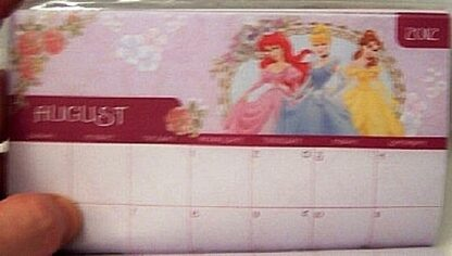 Disney Princess Cinderella 2012 2013 Monthly Planner New August