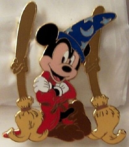 Disney Sorcerer Mickey Mouse LE 500 Jumbo Pin New Front