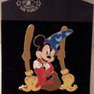 Disney Sorcerer Mickey Mouse LE 500 Jumbo Pin New On Card Front