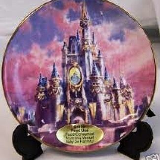 Disney WDW 2005 HCOE Celebration Cinderella Castle Mini Plate On Display Stand Front