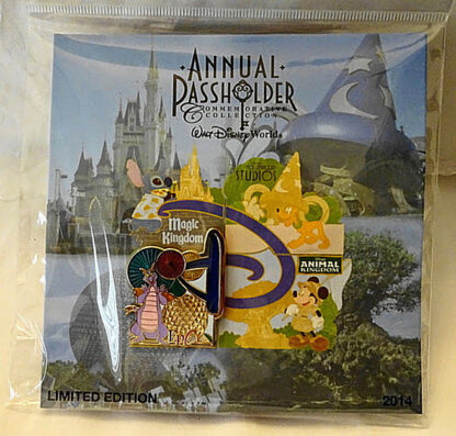 Disney WDW Figment Epcot Passholder 2014 LE 2500 Pin New On Card Front